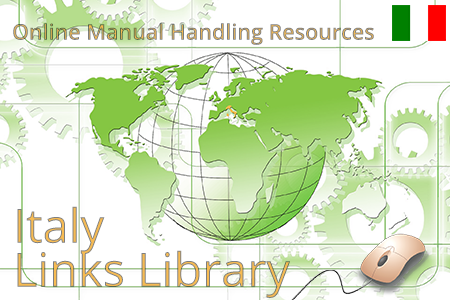 Online manual handling resources in Italy on lifting guidelines and ergonomic risk assessments.