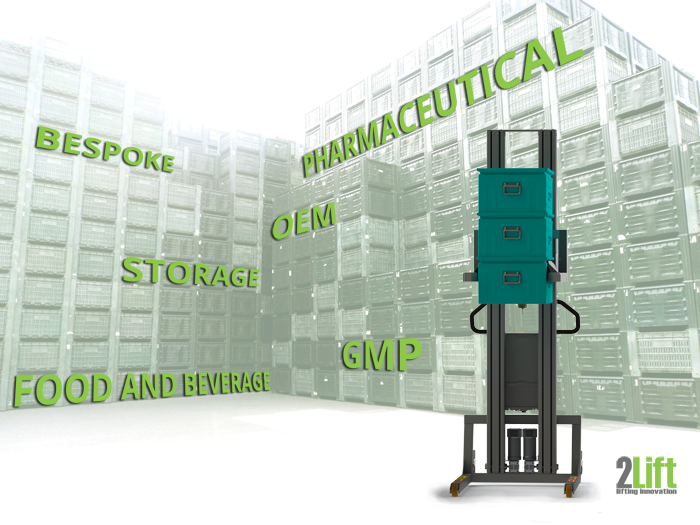 Industrial material handling lift for boxes. Electrical lifters for all industries. 2Lift.