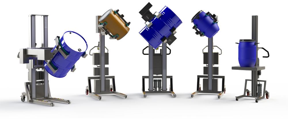 Drum handler equipment for lifting and handling barrels. 2Lift.