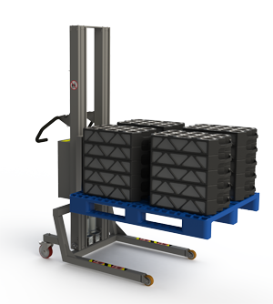 Flexible pallet lifting equipment. Blue pallet. 2Lift