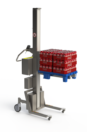 Electric pallet stacker. CHEP Pallet. 2Lift.