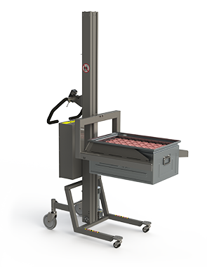 Industrial lifting solution for lifting metal boxes right under the top edge.