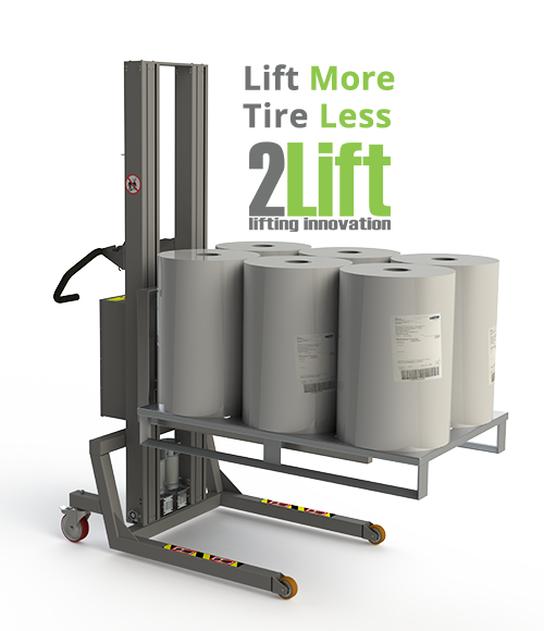 Roll handling equipment for storage environments. 2Lift ApS.