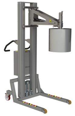 This electric reel manipulator (ERM)is a full electronic reel lifter solution with core grip. 2Lift ApS.